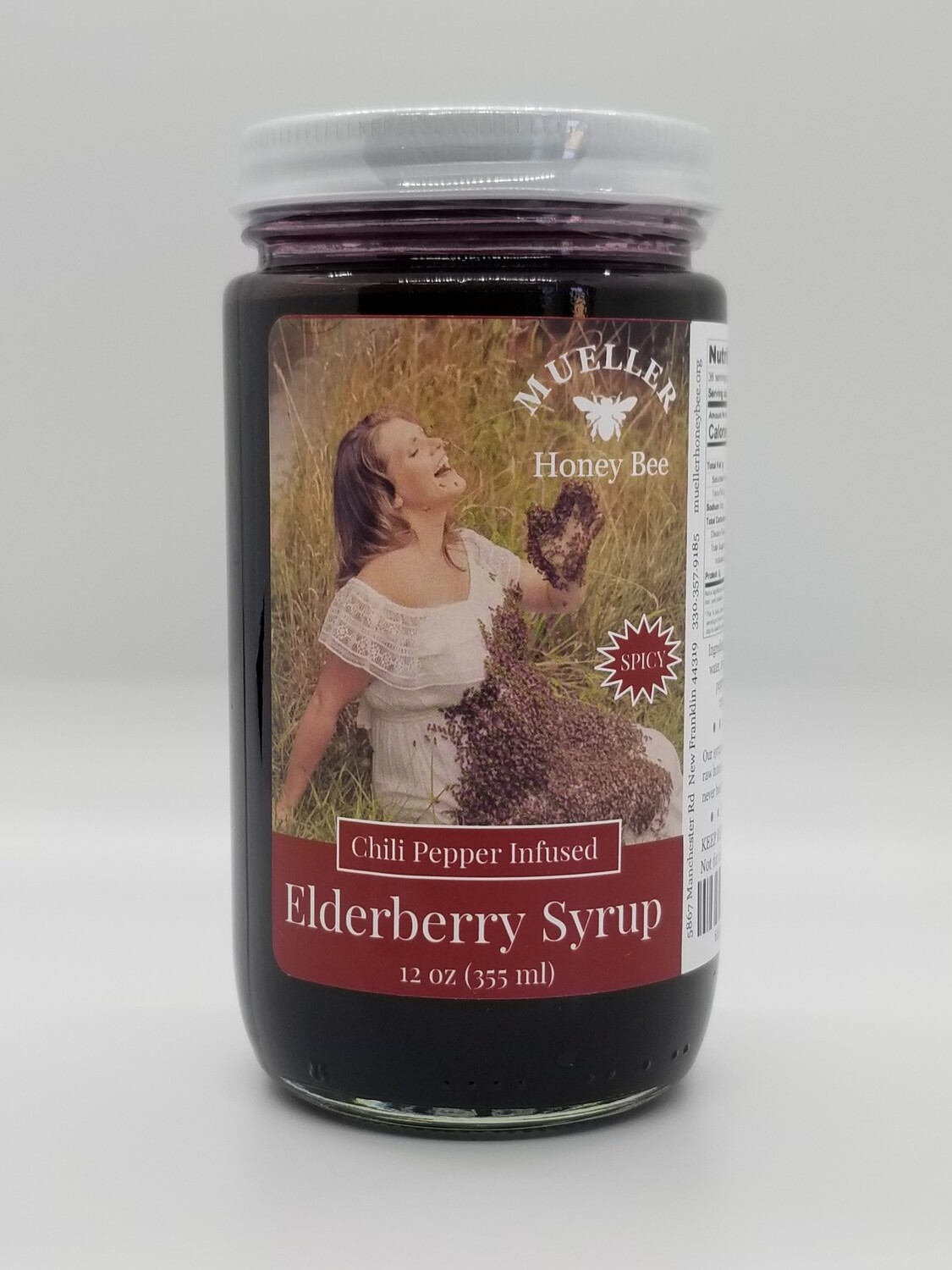 12 oz Chili Pepper Elderberry Syrup  (shipped Mon-Wed)