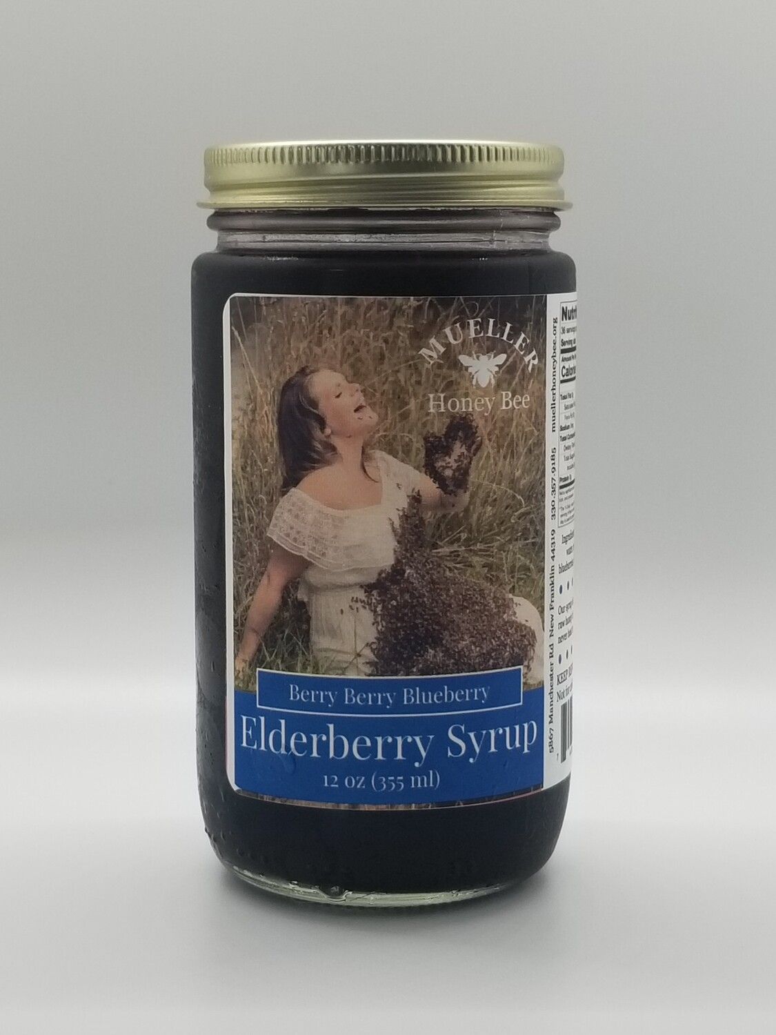 12 oz Berry Berry Blueberry Elderberry Syrup  (shipped Mon-Wed)