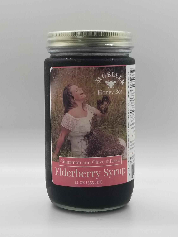 12 oz Cinnamon Elderberry Syrup  (shipped Mon-Wed)