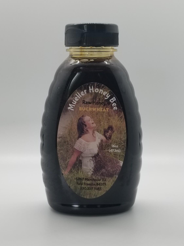 16 oz Raw Buckwheat Honey
