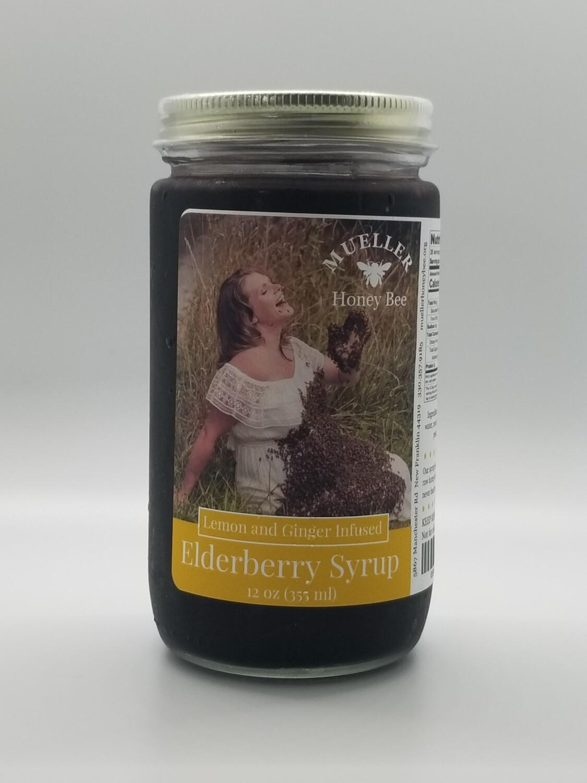 12 oz Lemon Ginger Elderberry Syrup  (shipped Mon-Wed)
