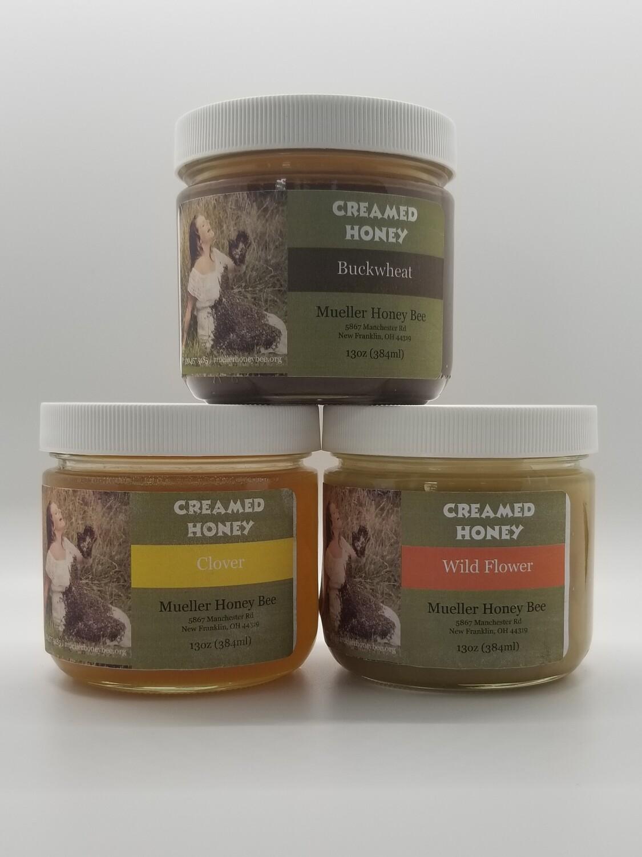 13 oz raw creamy honey (3 Pack)