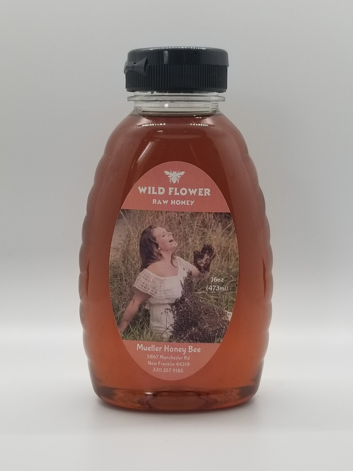 8 oz Raw Wild Flower Honey