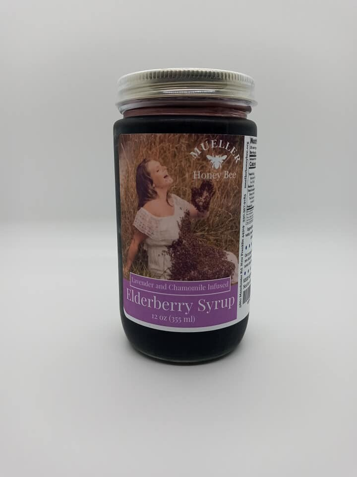 12 oz Lavender and Chamomile Elderberry Syrup  (shipped Mon-Wed)