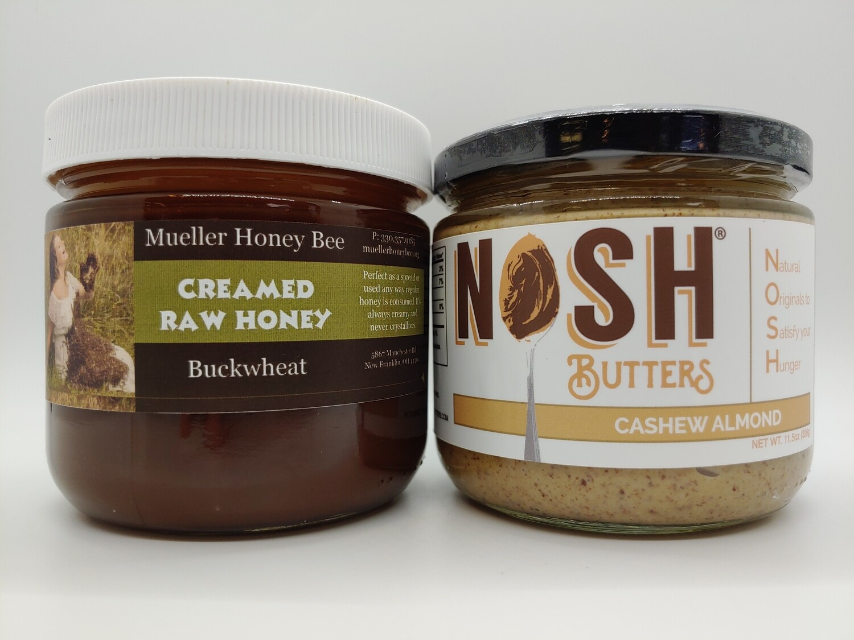 Creamy Honey (13oz) and Nosh Butter (12oz) Gift Set