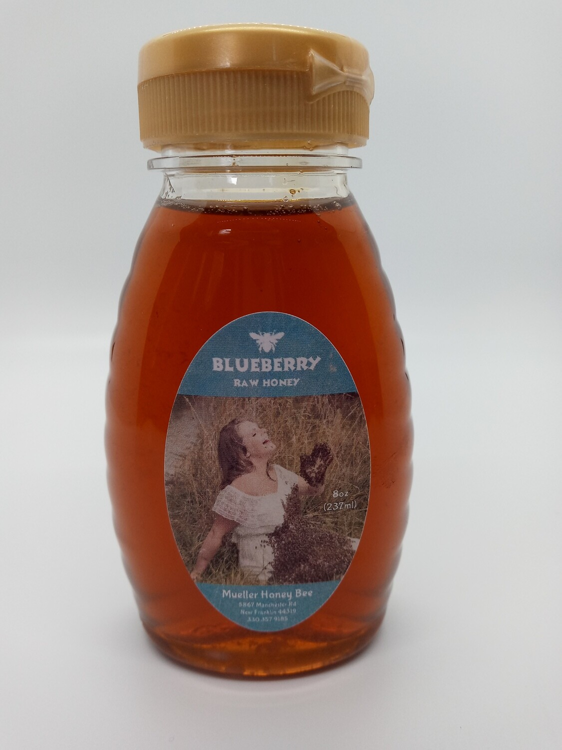 8 oz Natural Blueberry Honey