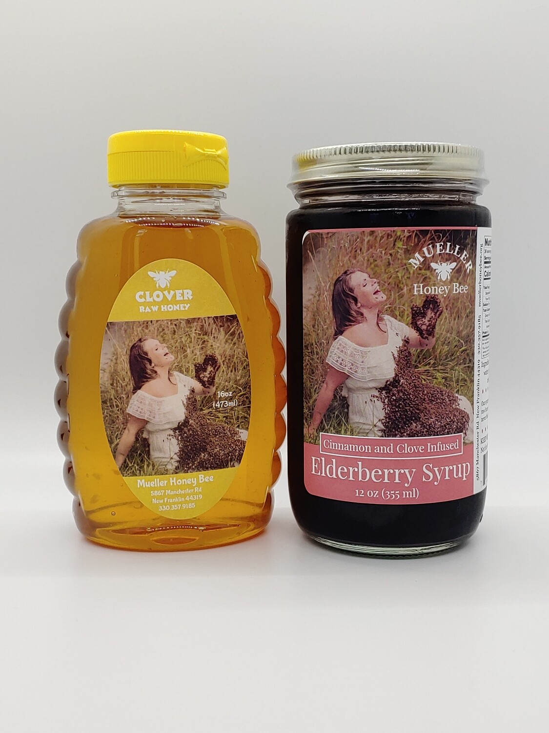 Variety Pack - 12 oz Elderberry Syrup & 16 oz Honey