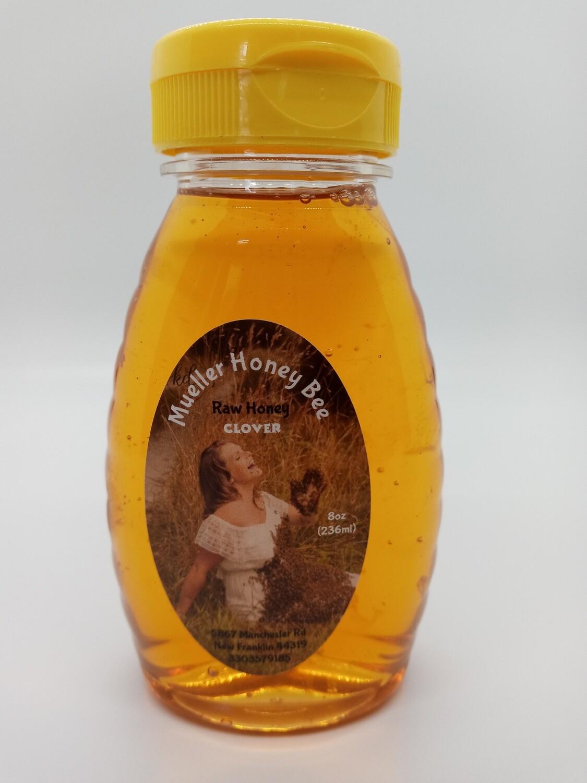 8 oz Raw Clover Honey