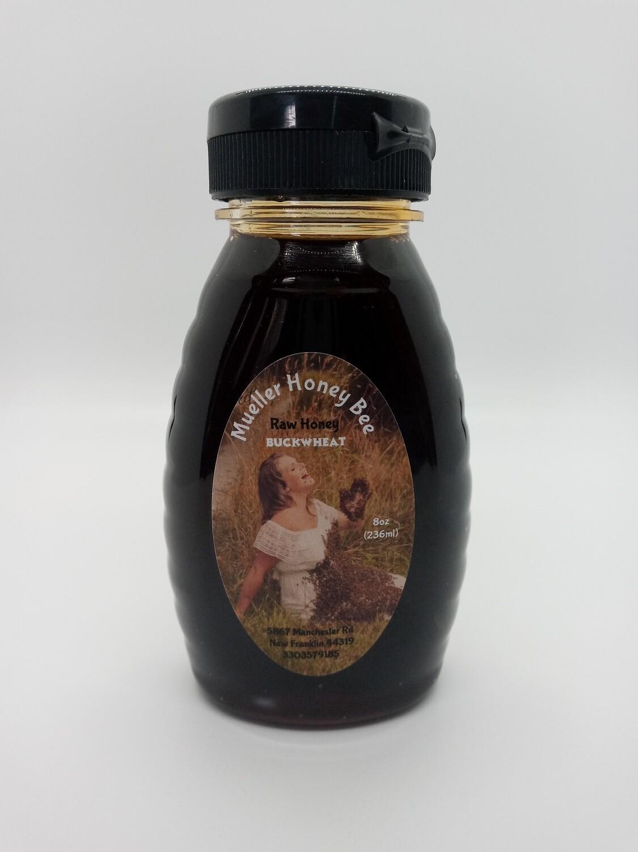 8 oz Raw Buckwheat Honey