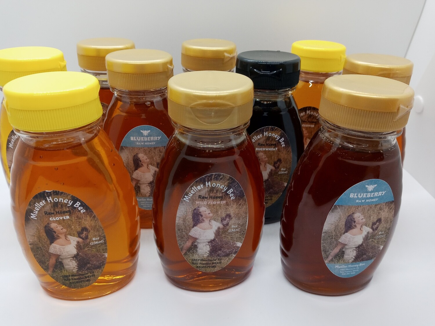 10 - 8 oz Varietal RAW Honey Set