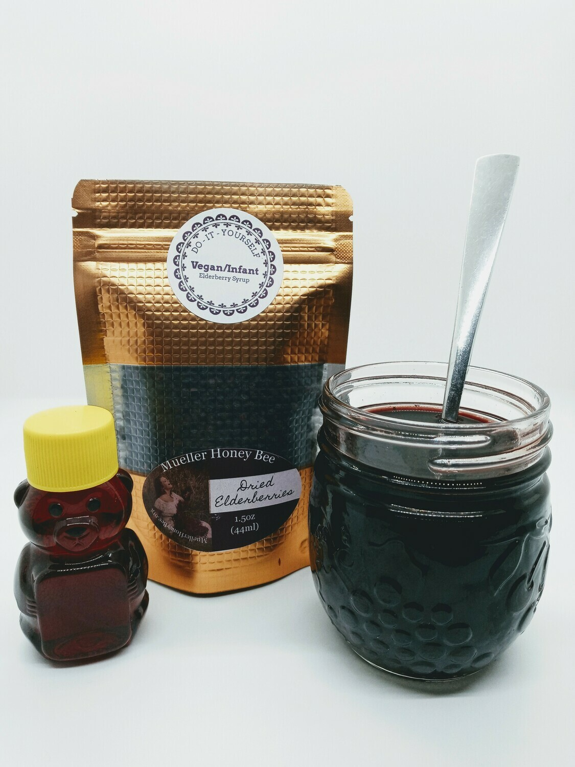 Vegan/Infant DIY Elderberry Kit with Ohio Maple Syrup (makes approx 16 oz)