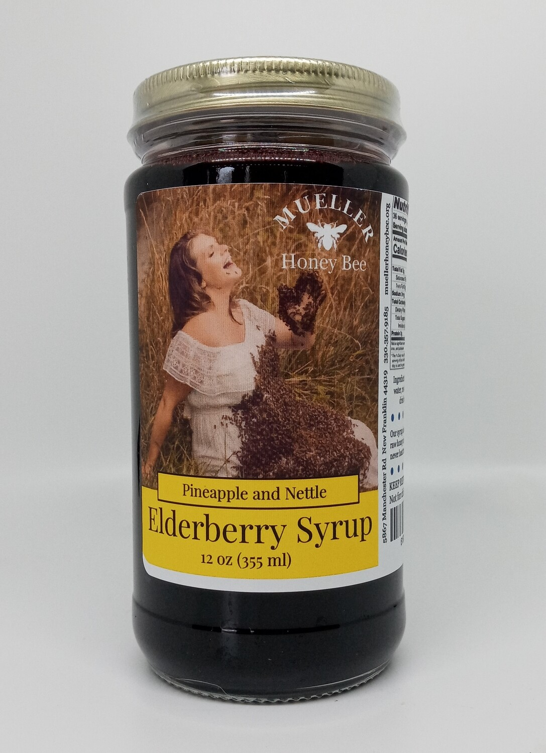 12 oz Pineapple Nettle Elderberry Syrup  (shipped Mon-Wed)
