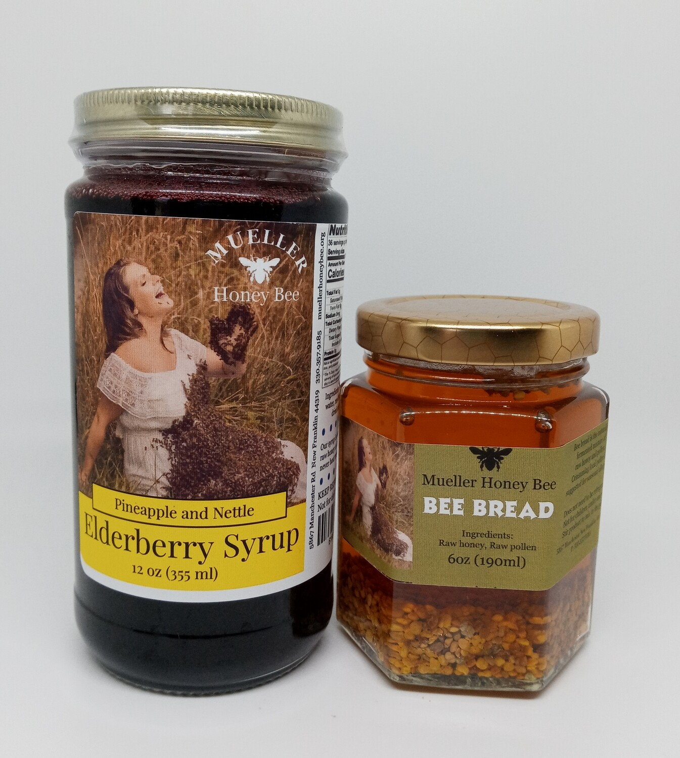 Daily Allergy Pack - 6 oz Bee Bread and 12 oz Pineapple Nettle Syrup