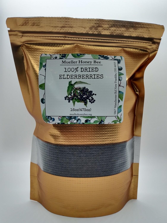 16 oz 100% Dried Elderberries