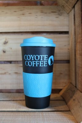 Coyote Coffee Blue and Black Travel Tumbler