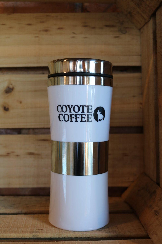 Coyote Coffee White Travel Tumbler