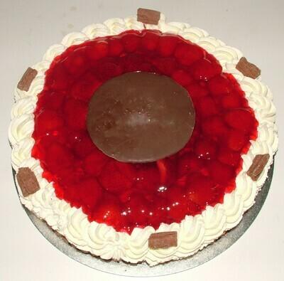 Fresh Cream Strawberry Flan
