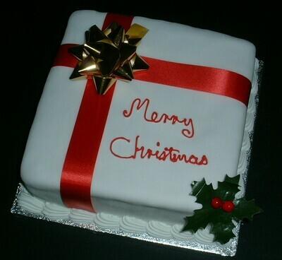 Square Christmas cake