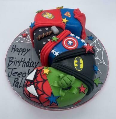 Super Hero Figure Cake