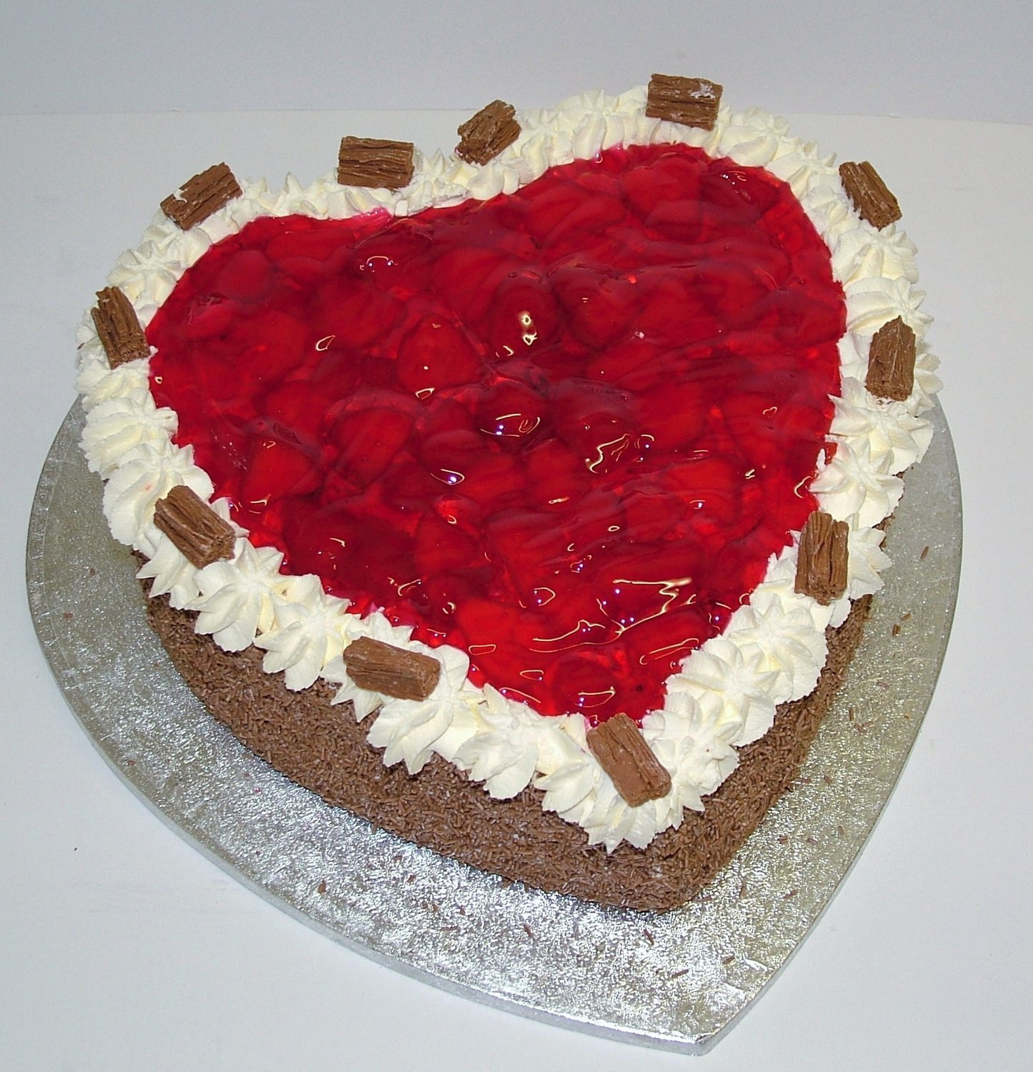 "Heart Shaped Gateaux on a 12"" board"