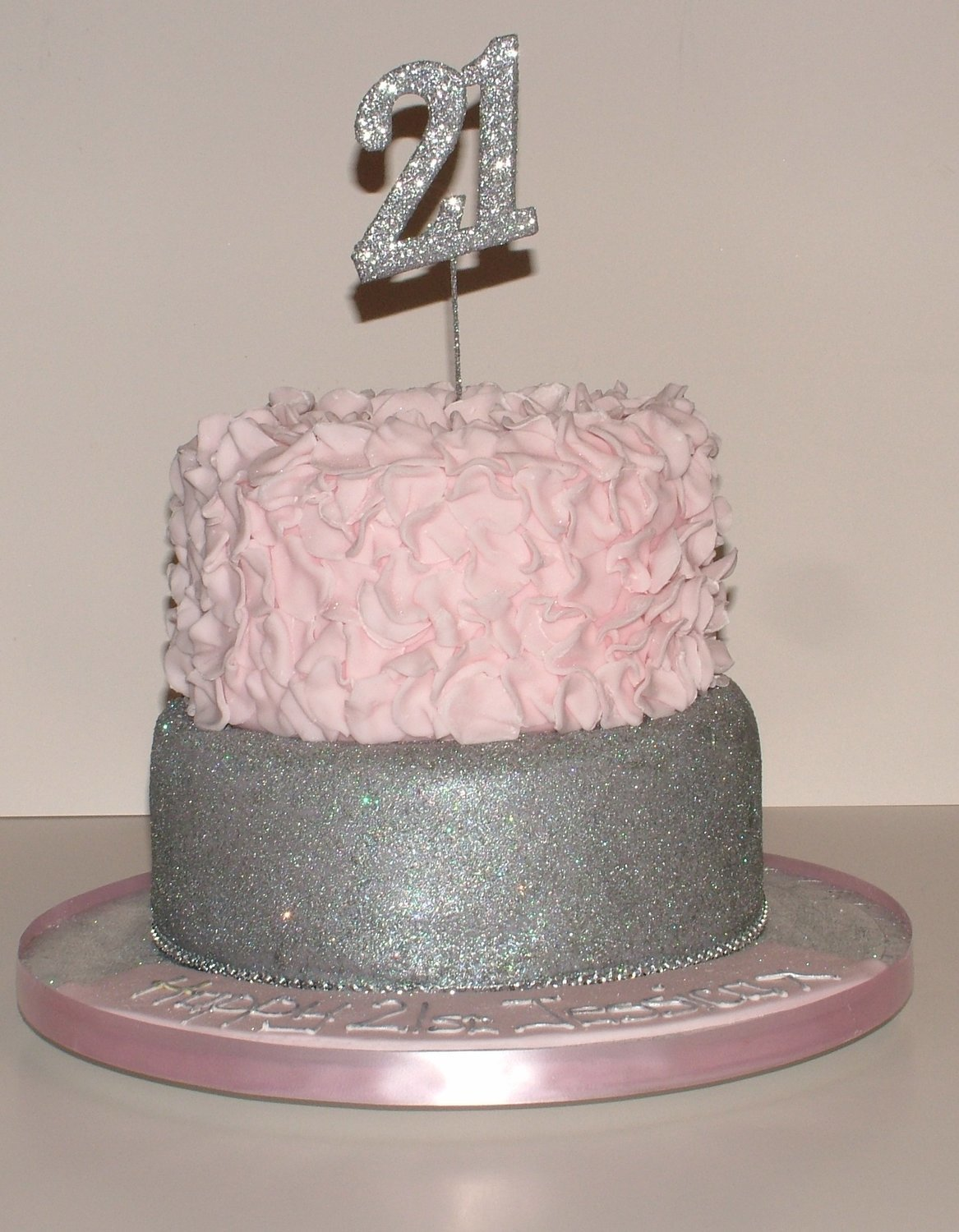 Glittery 21st Cake (Two Tiers)
