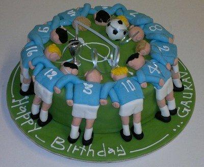 Blue Football Huddle