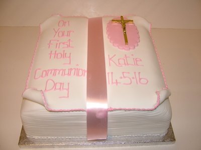 First Communion Bible Cake