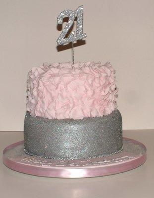 Glittery 21st Cake