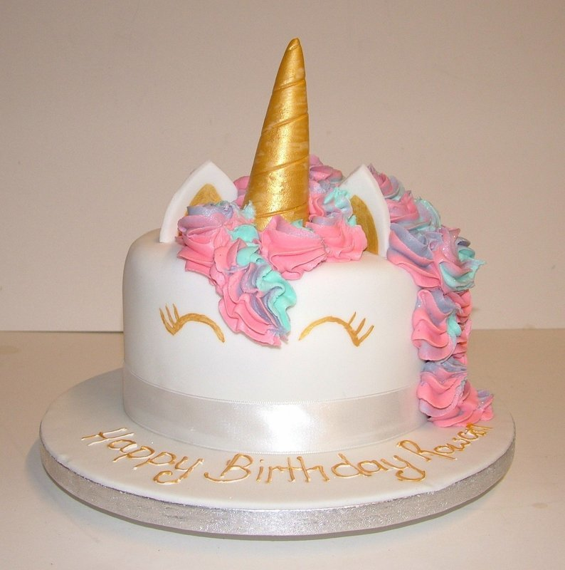 Golden Unicorn Cake