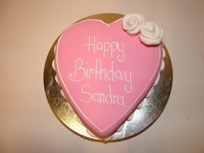 Pink Heart celebration cake