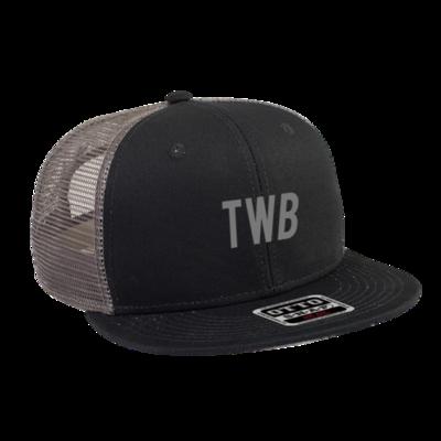 BLACK/GRAY TWB LOGO HAT