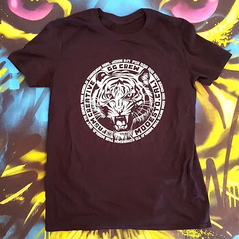 Fasm Creative Easy Tiger Shirt Black