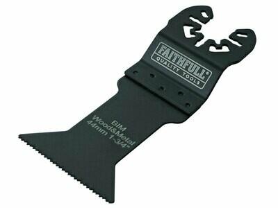 Faithfull FAIMFWM44B Bi-Metal Flush Cut Wood / Metal Blades 44mm (Pack 5)