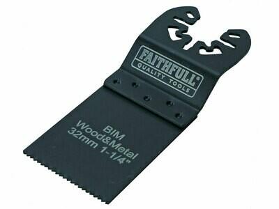 Faithfull FAIMFWM32B Bi-Metal Flush Cut Wood / Metal Blades 32mm (Pack 5)