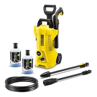 Karcher K2 Power Control Pressure Washer 110 bar 240V + 2 x 3-in-1 Car Shampoo Plug and Clean FREE