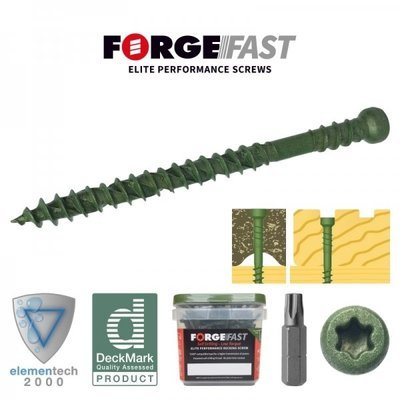 Forgefast Reduced Head Torx® Compatible Decking Screws
