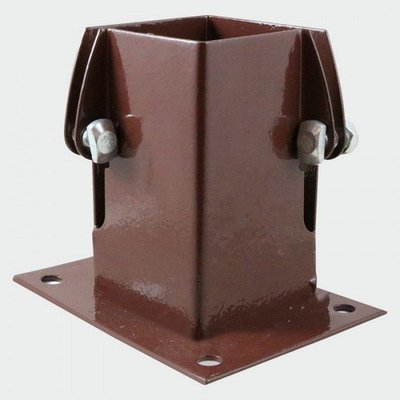 Flush Fit Bolt Down Fence Support 75 x 75mm