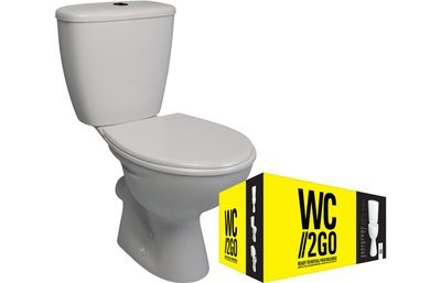 2 GO Close Coupled WC Pan, Cistern &  WC Seat White