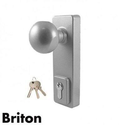 1413KE Briton Outside Access Device - Knob Operated - Silver