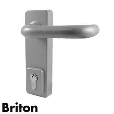 1413LE Briton Outside Access Device - Lever Handle - Silver
