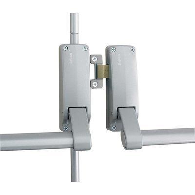 377 Briton Push Bar - Double Rebated Door Panic Set Silver