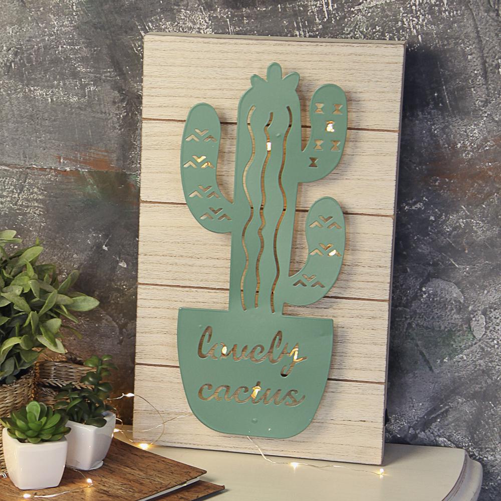 Светильник Кактус настенный, темно-зеленый