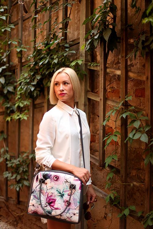 Сумка с принтом Oxford Цветы