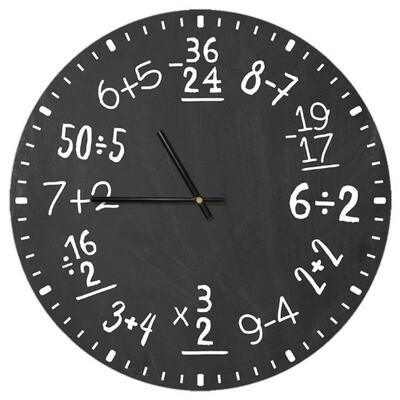 Часы настенные круглые, 36 см Математика CHR_P_20A032