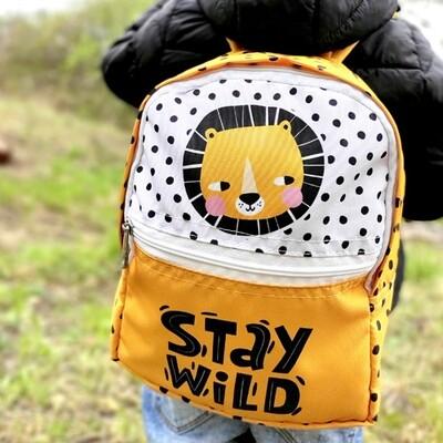 Рюкзак детский Light Stay wild (лев) RDL_20A013_WH