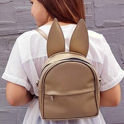 Рюкзак-сумка с ушками зайца, золотой RKU_006_ZZZ