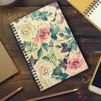 Блокнот Sketchbook (прямоуг.) Розы BDP_FFL002