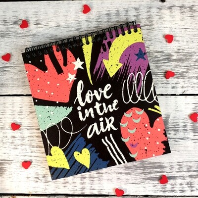Блокнот Sketchbook (квадрат.) Love in the air BDK_18L016