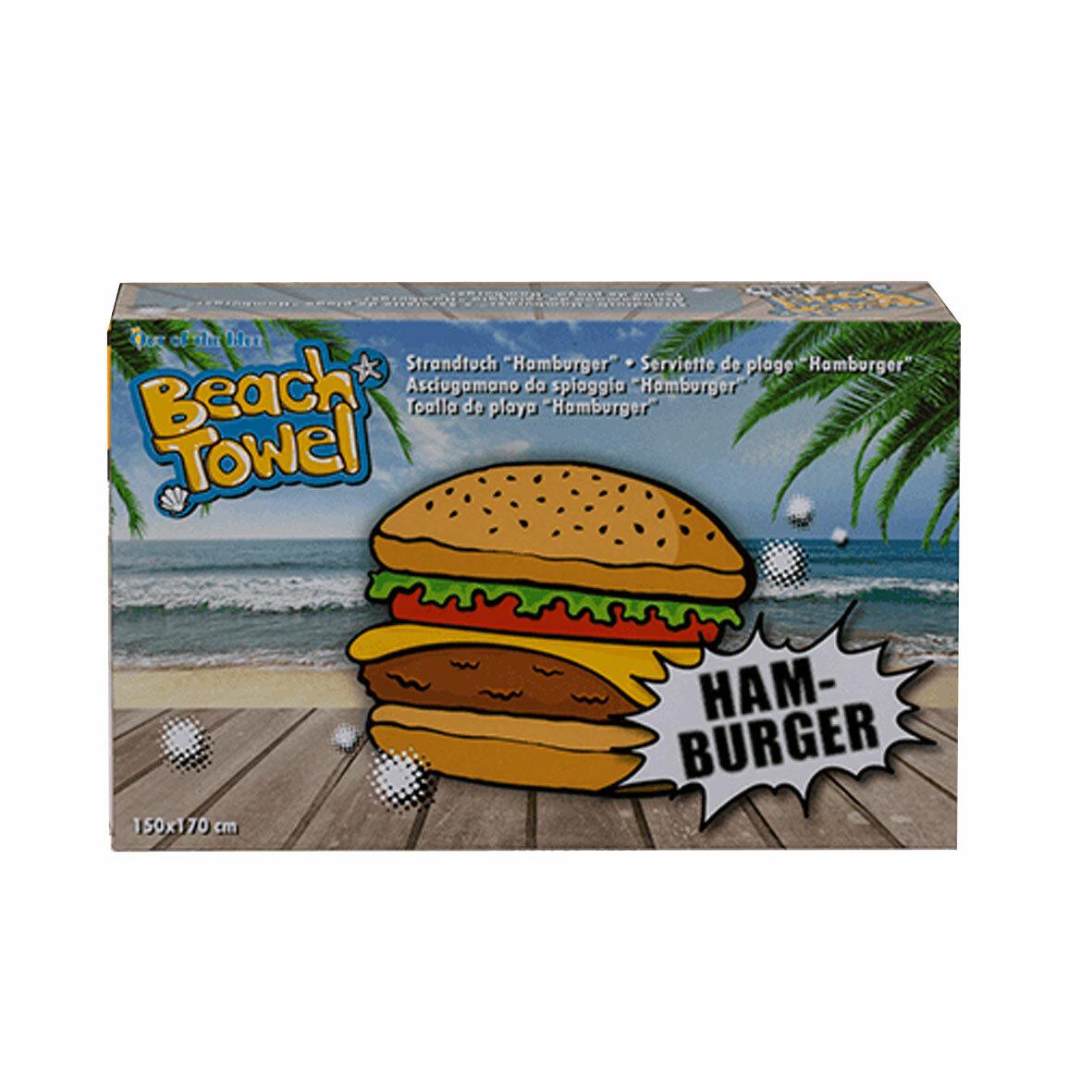 Полотенце пляжное Гамбургер
