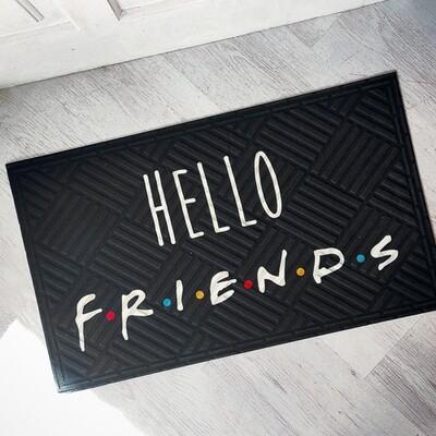 Коврик придверный с принтом Hello friends KOV_20S004